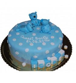 Tort Niebieskie Misie