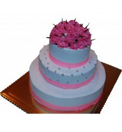 Tort Różowe Goździki