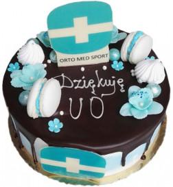 Tort dla Firm z figurką z czekolady