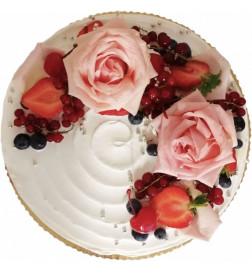 Tort z Żywymi Kwiatami