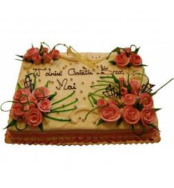 Tort Akant niebieski