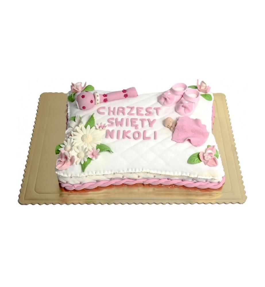 Tort Poduszeczka do Chrztu