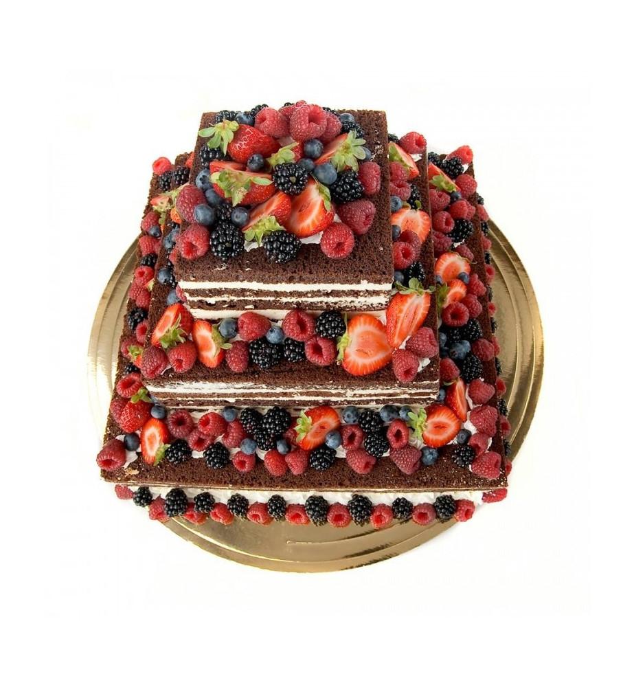 Tort Weselny NAKED CAKE - czekoladowy